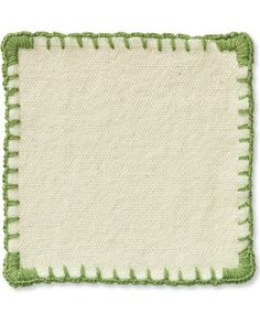 Blanket stitch coasters - love the corners