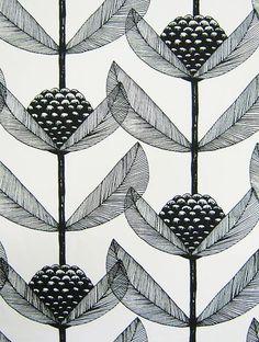 Scandinavian Fabric Kinnamark Retro Vtg 50s Era Flower DIY Cushion Pillow   eBay