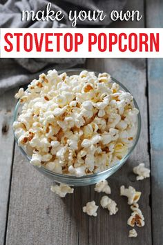 How to make (healthier) popcorn on the stove! Avoid chemicals and add fun flavors!