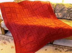 AlterKnit Squares Knitted Afghan Pattern