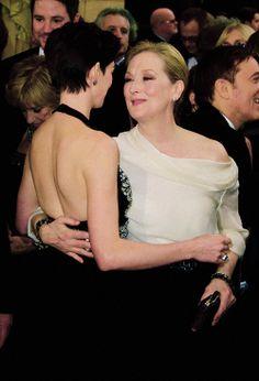 Meryl and Anne - Oscars 2014