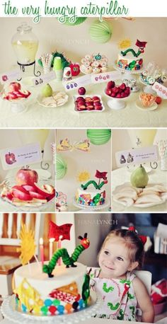 cake, caterpillar birthday party, hungry caterpillar birthday, birthday party foods, first birthdays, 1st birthdays, food tabl, kid birthday parties, hungri caterpillar
