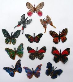 13 Butterflies of South America Pattern by Katherina Kostinsky at Bead-patterns.com bead butterfli, butterflies, america pattern, south america, 13 butterfli