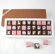 Personalised Valentine's Day Chocolates
