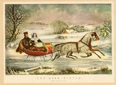 The Road Winter, Currier and Ives
