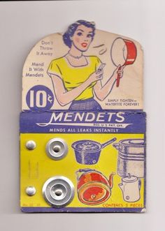 1940s Mendets to Fix Leaks in your Pots & Pans.
