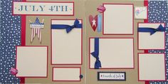JULY 4TH 12x12 Premade Scrapbook Pages  FouRTh oF by JourneysOfJoy, $14.50