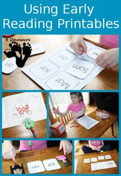 Using Early Reader Printables - Hands on learning with the BOB Books Printables - 3Dinosaurs.com