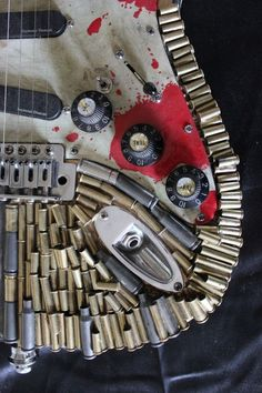 Customized 'Zombie Apocalypse' Guitar is a Bad-Ass Piece of Musical Machinery [Pics]