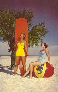 1950's Florida pin-up girl postcards.