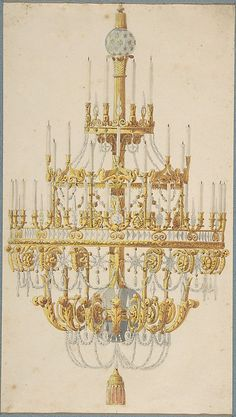 Design for Chandelier  Anonymous, French, 18th century   (c) Met Museum