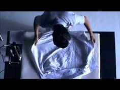 Minimalist, no-talking, stylized Japanese demonstration of how to iron a shirt. Nice mood and sound design.