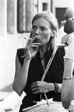 Joni Mitchell in a candid moment