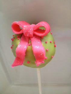 Bow cake pop