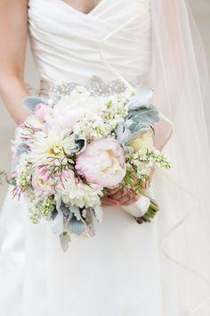 Stunning bridal bouquet: http://www.stylemepretty.com/illinois-weddings/chicago/2014/09/18/elegant-museum-wedding-in-chicago/   Photography: Emilia Jane - http://emiliajanephotography.com/