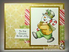 Art Impressions Christmas: Jolly Snowman Set handmade winter card.