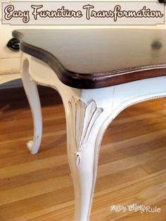 chalk painting furniture | ... Table Transformed with Chalk Paint & PolyShades - Artsy Chicks Rule