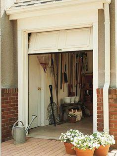 Shed garage workshop on pinterest sheds greenhouses and for Golf cart garage door prices