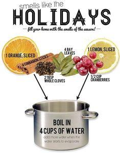 smells like holidays.