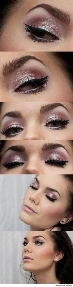 Cute pink makeup