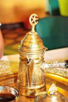 Very old, very traditional Arabic coffee pot.