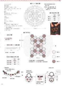 Patrones para Crochet: Patron Crochet Bolso Flores en Relieve