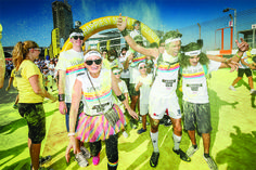 Dubai boasts the tallest skyscraper, man made islands, underwater hotels, an indoor ski park, and the world's only 7 star hotel, but on December 14th, 2013, the Happiest 5K brought it's own magic. #TCR #Dubai