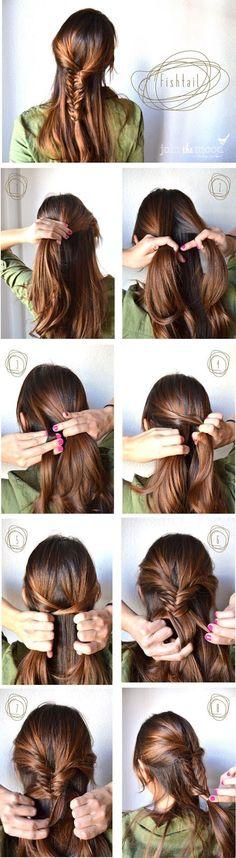 tutorials, diy hair, new hair colors, braid hairstyles, beauti, braided hairstyles, hair style, fishtail braids, braid styles