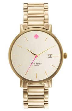 kate spade watch, white gold
