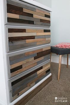 DIY Wood Shim Dresser by My Sister's Suitcase for Tatertots and Jello #DIY