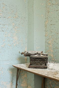 Still life with typewriter