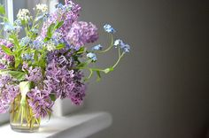 spring flowers {lilacs!} by coco knits, via Flickr