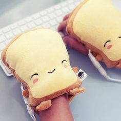 Toasty hand warmers - they warm up when plugged into a USB port