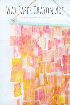 Wax Paper Crayon Art
