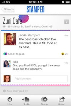 Stamped #iPhone #app #UI