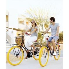 yellow. bike. tires.