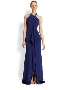 Carmen Marc Valvo <3 Toga Necklace Gown