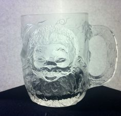 Vintage Luminare Holiday Mug with Santa Never Used | eBay