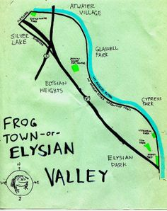 Elysian Valley is also known as 'Frogtown.' The neighborhood is flanked on the north by Atwater Village, on the northeast and east by Glassell Park, on the southeast by Cypress Park, on the south and southwest by Elysian Park and on the west and northwest by Echo Park and Silver Lake.