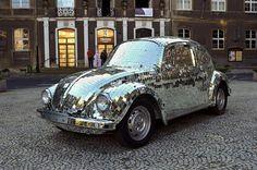mirror balls, car, mirrors, disco ball, vw beetles, bugs, discos, mirror mosaic, vw bug