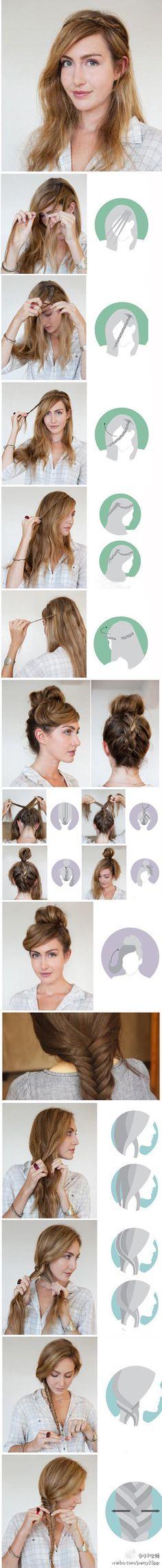 DIY Braided Hair Hairstyles-great tutorial   #tutorials #howto #hair #diy #hairstyles