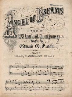 Angel of Dreams ~ sheet music