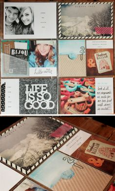 Love the little pockets. #scrapbook #layout #simple #project #life