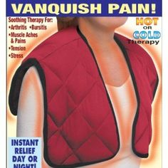 "Hot and Cold Upper Body Shoulder Back Comfort Wrap by Dream Products. $20.97. CHOOSE HEALING HEAT OR ICY RELIEF It?s specially designed to hug the contours of neck, shoulders, back and chest to instantly deliver the soothing healing power of cold or hot therapy. Just pop into microwave or freezer, put it on like a jacket and feel the pain dissolve. A great solution for arthritis, bursitis, backache, joint pain, sports injuries, tension and more. One size fits all - 22 1/2""L x..."
