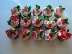Cute Strawberry Cupcake Toppers