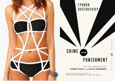 Crime and Punishment by Fyodor Dostoevsky // Beloved Books as Bathing Suits