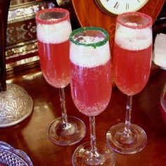 Christmas Champagne Punch.