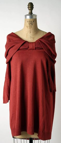 Sweater, Romeo Gigli, ca. 1991, silk, Metropolitan Museum of Arts