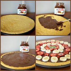 fruit pizza, dough crust, cookie dough, easy desserts, desserts easy