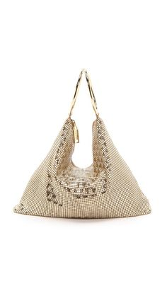 Whiting & Davis Deco Triangles Bag
